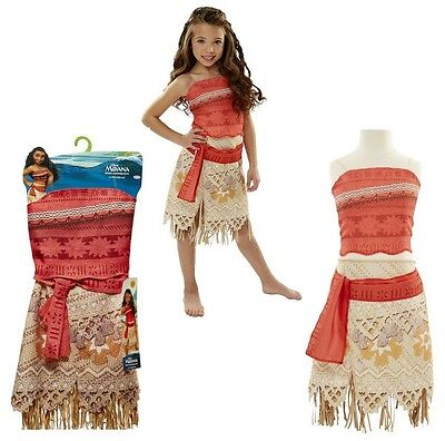 Disney Moana Girls Store Outfit Costume 2 Piece Skirt Layer Dress Clothing 4 6X