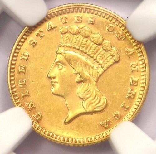 1870 Indian Gold Dollar (G$1 Coin) - NGC Uncirculated Details (UNC MS) - Rare!