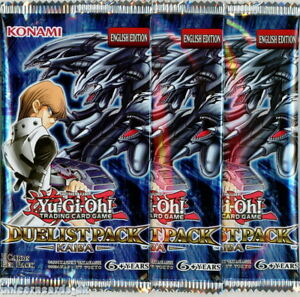 YuGiOh! Duelist Pack Kaiba UNL Edition New And Sealed Booster Packs x3
