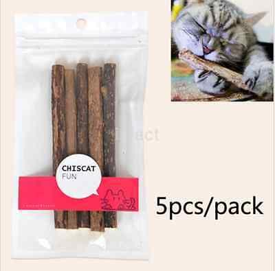 Hot Sell 5pcs Cat Stick chew toy Polygonum dental health kitten catnip stick CA