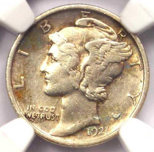 1921 Mercury Dime 10C Coin - Certified NGC XF Details - Rare Key Date!