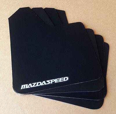Sr  04 16 Mazdaspeed 3   Mazda 3 Rock Mud Flaps Starter Set Black W  Vinyl Logo