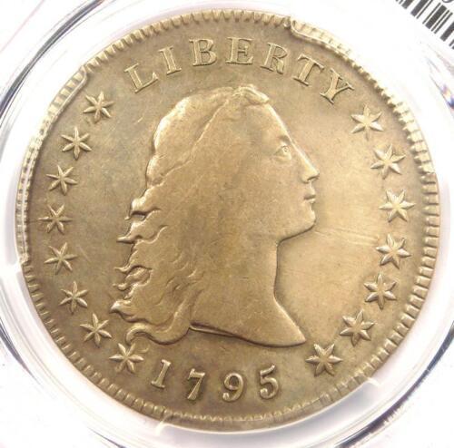1795 Flowing Hair Silver Dollar ($1 Coin) - PCGS VF Details - Rare Coin!