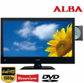 Alba 22 inches LED tv builtin freeview and dvd player excellent condition