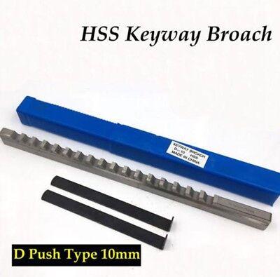 Hss Keyway Broach 10mm D Push-type Metric Size Cnc Machine Tool