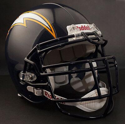 JUNIOR SEAU SAN DIEGO CHARGERS Riddell Z-LTDU Football Helmet FACEMASK NAVY BLUE - Junior Football Helmet
