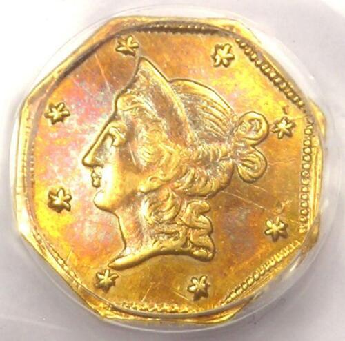 1853 Liberty California Gold Dollar G$1 Coin BG-523 - Certified PCGS AU Details!