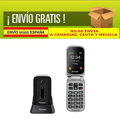 Teléfono Móvil Easy Comfort con Tapa Personas Mayores botón SOS y Base...