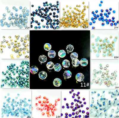 Wholesale 200pcs #5000 Round Faceted crystal glass Loose Spacer 4mm