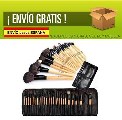 Brochas MADERA de Maquillaje,Cadrim 24pcs Profesional Cosméticas + Bolso Negro