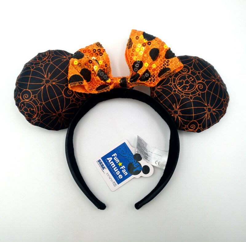 Disney Parks New Halloween Party Sequins Mickey Minnie Mouse Ears Cos Headband