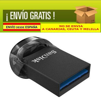 MINI PENDRIVE SanDisk Ultra Fit, Memoria flash USB 3.1 de 64 GB...