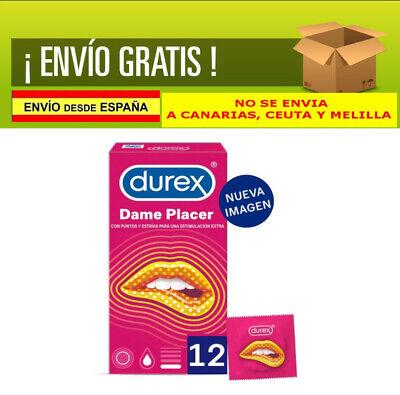12 PRESERVATIVOS DUREX CONDONES DAME PLACER - Puntos y Estrias, Condones