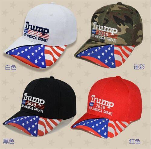 Make America Great Again Hat Donald Trump MAGA Cap Adjustable Keep America Great 3D Embroidery Flag Camo Trump 2020 Hat