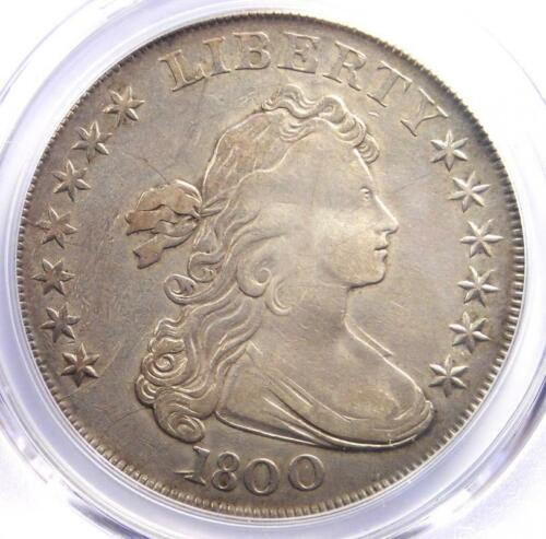 1800 Draped Bust Silver Dollar $1 Coin - Certified PCGS XF Details - Rare Date!