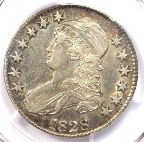 1828 Capped Bust Half Dollar 50C Coin - Certified PCGS AU Details!