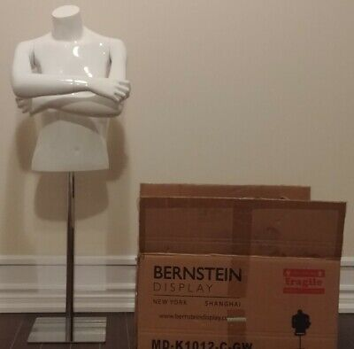 Bernstein Kids 12 Mannequin Girl Size 10-12 Fiberglass Gloss White Square Base