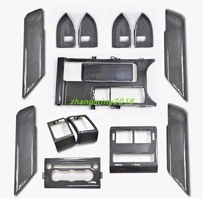 True carbon fiber Car interior kit Cover Trim For Range Rover Sport 2014-2017