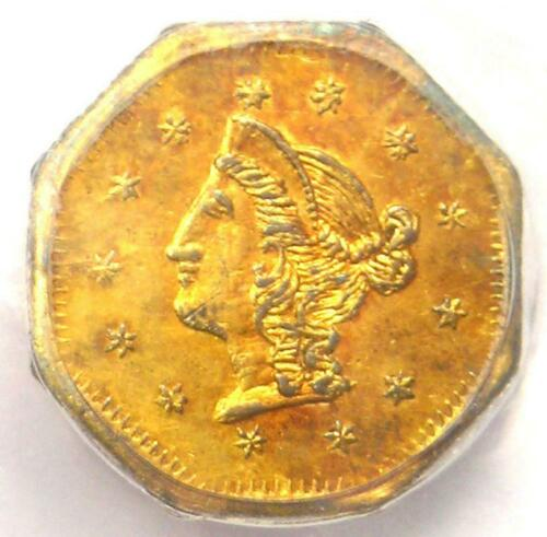 1870 Liberty California Gold Dollar G$1 BG-1118. PCGS Uncirculated Dets (UNC MS)