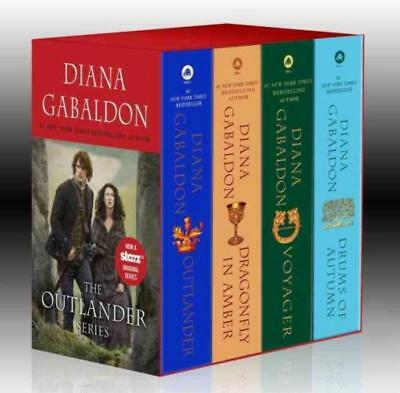 4 Volume Paperback Set (OUTLANDER Series by Diana Gabaldon MASS MARKET PAPERBACK BOXED SET of Books 1-4 )
