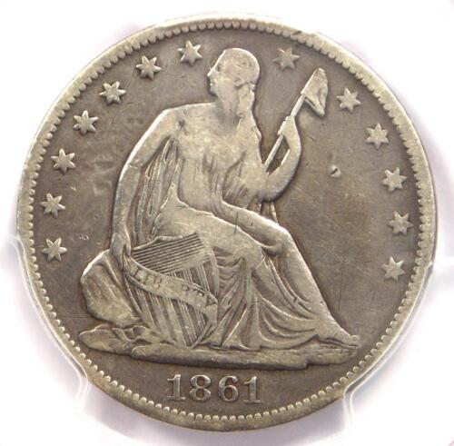 1861-O CSA Obverse Seated Liberty Half Dollar 50C FS-401 - PCGS Fine Details!