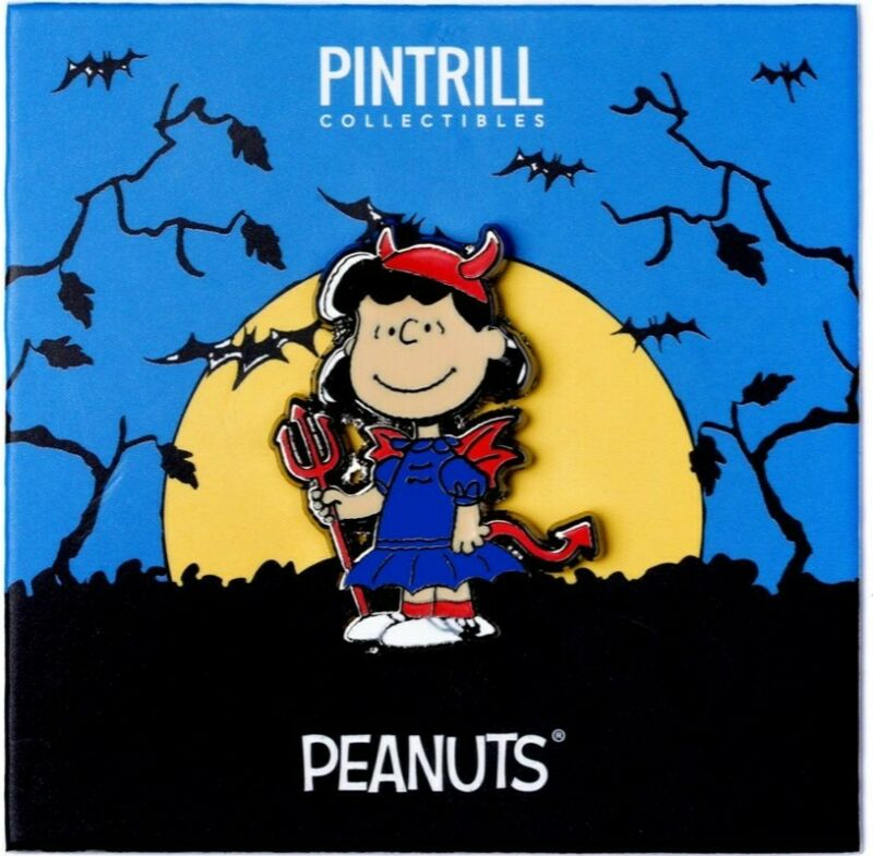 PINTRILL x PEANUTS - Lucy Devil Pin *EXCLUSIVE* Halloween Collection Snoopy NEW