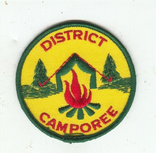 MINT Older Boy Scout Gauze Back Generic District Camporee Patch