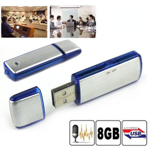 1pcs USB Sound Recorder 8GB Voice Recorder Hidden Spy Digital Audio Evidance
