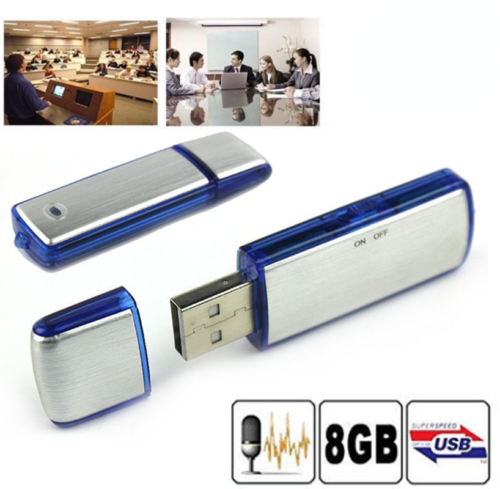 8GB Mini USB U Disk Pen Drive Digital SPY Audio Voice Recorder 150 hrs Recording
