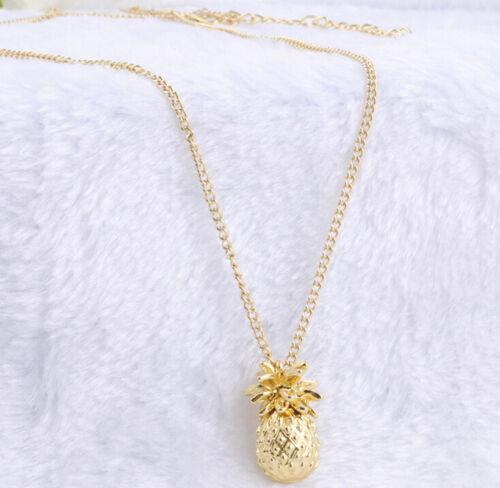 Fashion Women Ladies Jewelry Gold Plated Pineapple Pendant L