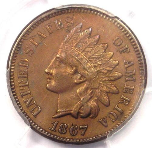 1867 Indian Cent 1C - PCGS AU Details - Rare Early Date Certified Penny!