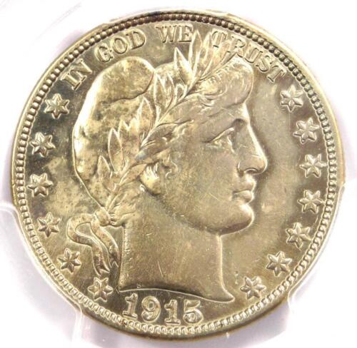 1915 Barber Half Dollar 50C - PCGS XF Details (EF) - Rare Date - Certified Coin!