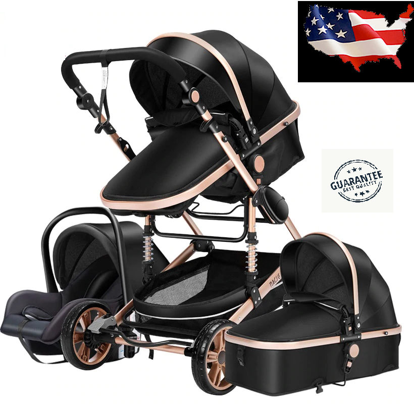 3 in 1 Baby Stroller w/ shocks for Jogging. Car Seat and Inf