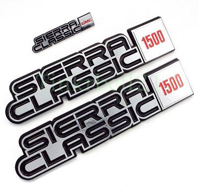 81 82 83 84 85 86 87 GMC Truck Sierra Classic 1500 Fender Dash Emblem Set Badge 86 Gmc 1500 Truck