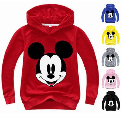 Mickey Mouse Maus Jungen Kinder Langarm T-shirt Shirt Hoodie Kapuzenpulli Kostüm