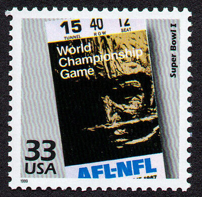 UNITED STATES, # 3188-L, SUPER BOWL CHAMPIONSHIP OF AMERICAN & NATIONAL LEAGUES