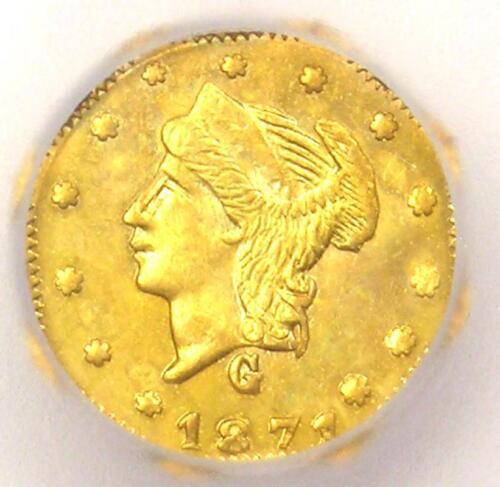 1871 Liberty California Gold Quarter Coin 25C BG-768 - ICG MS64 - $675 Value!