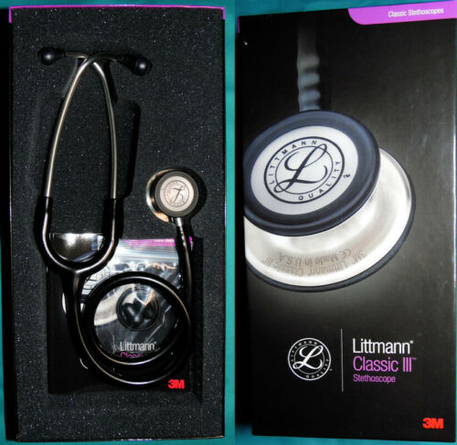 3M Littmann 5620 Classic III Stethoscope - Black w/Std Finish Chestpiece