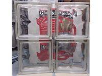 Glass blocks x 4