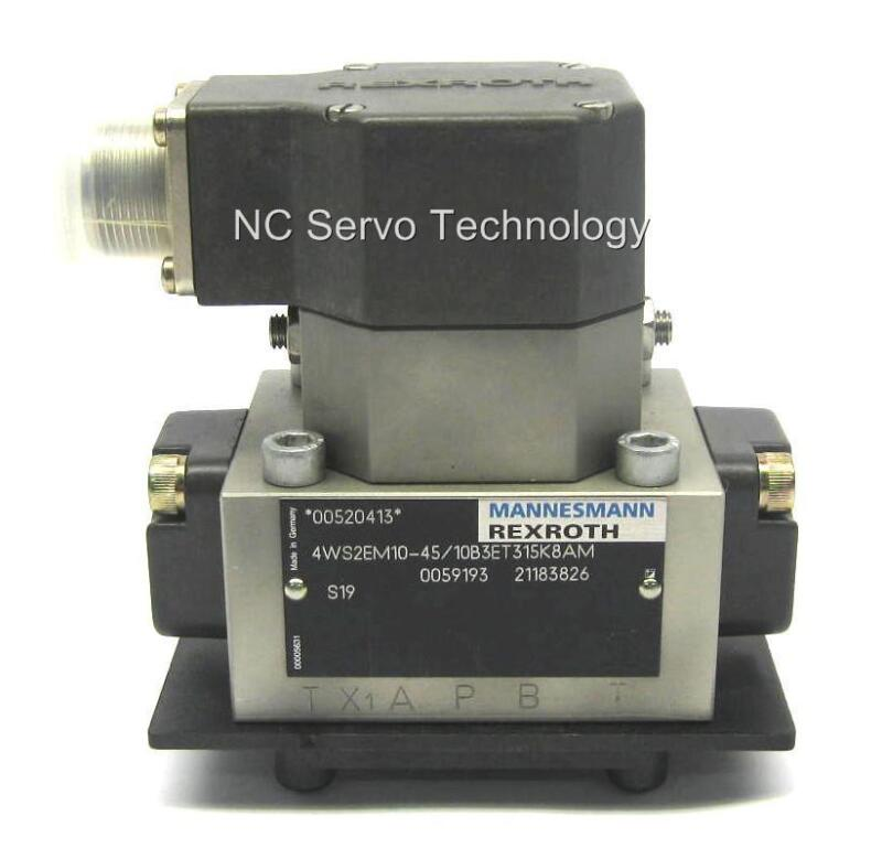 Rexroth 4ws2em10-45/10b3et315k8am Servo Valve New W/12 Month Warranty