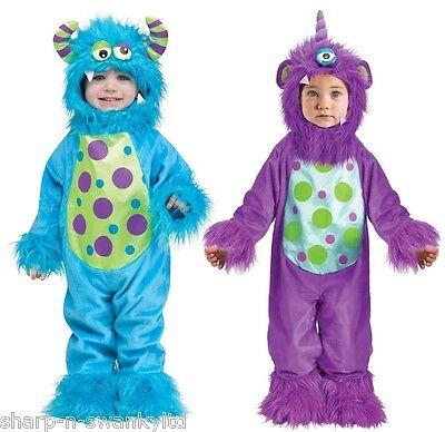 Baby Jungen Mädchen Blau Violett Halloween Monster Kostüm Kleid Outfit 6-24mth