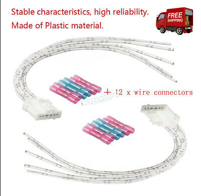 2x Tail Rear Light Lamp harness WHITE connector wiring loom For Peugeot Citroen