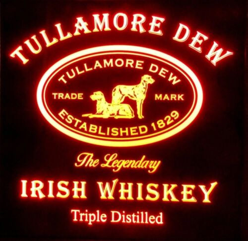 Tullamore Dew Irish Whiskey LED Sign, Home bar pub Sign, Light