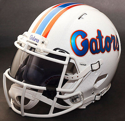 *CUSTOM* FLORIDA GATORS NCAA Riddell SPEED Full Size Replica Football Helmet