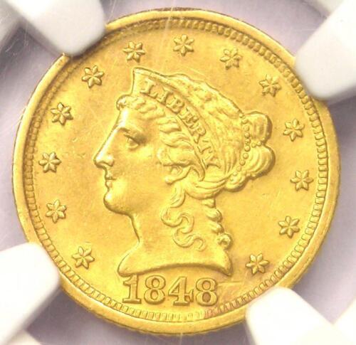 1848-D Liberty Gold Quarter Eagle $2.50 - NGC Uncirculated MS Detail - Dahlonega