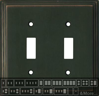 Art Deco Step Oil Rubbed Bronze  Switch Plates, Wall Plates & Outlet Covers Oil Rubbed Bronze Arts