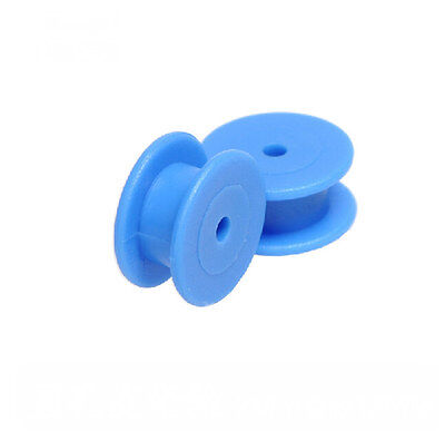 5pcs 12mm Blue R 2mm Hole Plastic Sheave Belt Pulley Timing Pulley For Diy