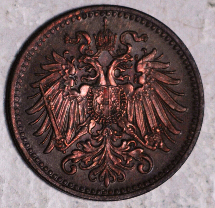 AUSTRIA 1 HELLER 1910 HIGH GRADE  - $1.99