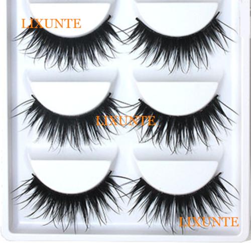 5Pair Natural Black Soft Super Thick False Eyelashes Long Eye Lashes Extension U Eyes