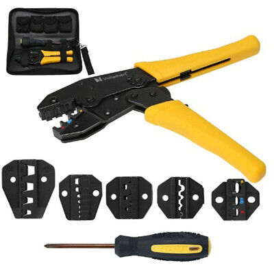 Ratcheting Wire Terminal Crimpers Crimping Pliers Cord End Terminals Tool